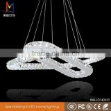Ring crystal chandelier for wedding decoration/modern pendant light LED 46w