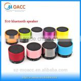 mini S10 bluetooth speaker with tf card slot and hands free function