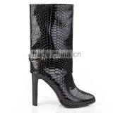 Top grade ladies ankle boots stiletto high heel boots black women leather boots side zipper custom women boots