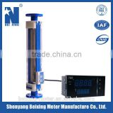 LZBD glass tube water/gas flow meter /rotameter with digital output