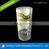 Tube plastic beads container