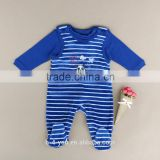Cute Baby Infant Boys Girls Clothes Sets Romper Stripe T-shirt Bib Overall Pajama