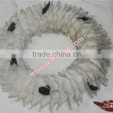 Wholesale Craft Feather Circle Cock Feather And Ostrich Feather Rnament For Wedding And Christmas Decoration