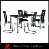 2015 factory wholesale wooden dining room furniture dining table set