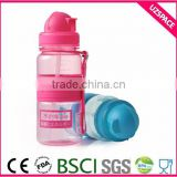 450ml pop up straw lid children /baby economical water bottle