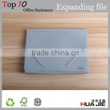 Elastic strips lock Plastic expandable bag shape A4 expanding document wallet