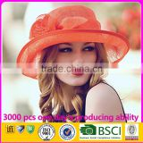 Elegant Women Wedding Hat Wholesale Philippine Sinamay Church Hats                                                                                                         Supplier's Choice