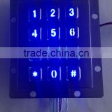 Backlight 12 keys 3x4 metal keypad