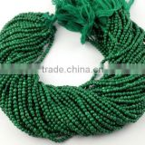 5 Strands Synthetic Malachite Smooth 3mm Rondelle Balls Drilled Beads,Jewelry making Strand Beads