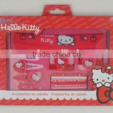 OEM--17PCS HELLO KITTY HAIR ACCESSORIES SET(HAIRBAND,HAIR ELASTIC,HAIR CLIP,HAIR PONY)