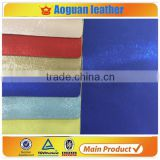 2016 hot selling crazy horse pattern leather with shinny leather fabric & mouse leather fabric