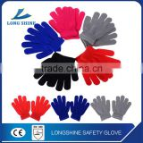 Comfort five finger colorful knitted cotton Winter Kids gloves                                                                         Quality Choice