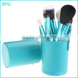 Best quality Professional Make up brush set 12pcs Makeup brush with barrel OEM