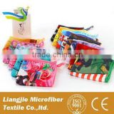 opp plastic bag packed 80 Polyester 20 Polyamide with hook kitchen towel disposable towe fabric textiles