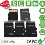 Mini sd card 64GB micro memory sd card micro memory sd with adapter Class10 full storage for mobile phone.