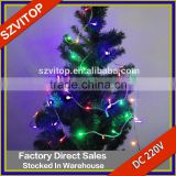 LED Fairy Light 220V for Christmas Party RGB Single Color Holiday Decoration Christmas Tree Light String Safety Good Quality