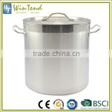 LOW MOQ Large Capacity Restaurant 555 Stainless Steel Large Stock Pot