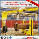 Remote control electric hosit 2ton 3ton 5ton jib BZ BZD Model Floor mounted jib crane