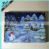 The Christmas tree snow Flashing Tapestry Christmas Picture With LED Lights 60 x 40cm Indoor Decoration