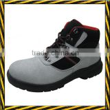 Natural white suede leather men working safety shoes                                                                         Quality Choice