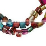 Jewellery Freshwater Shell Beads Strings, Dyed, Multicolor(BSHE-S025)