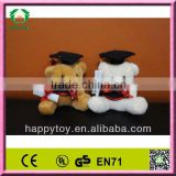HI EN71 mini graduation teddy bear plush toy