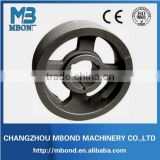 double v round belt conveyor snub pulley drum alloy HT250 die casting steel OEM belt pulley