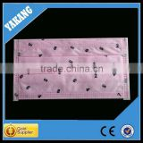 3ply pink background with black number spunlace disposable non-woven nouth to mouth face mask