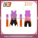Stan Caleb men or women sublimation lycra triathlon bike, sporwear triathlon suit, high elastic triathlon wetsuit