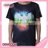 3D printed colorful and bright bird t shirt men top quality t-shirt low price