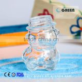 30 ml new design high quality bear shape crystal glass jar