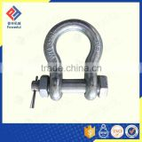 ZINC PLATED U.S. TYPE DROP FORGED BOLT TYPE ANCHOR SHACKLE