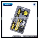 6Pcs High-quality Mini Promotion Tool Set With Screwdrivers,Plier,Knife and Measure Tape