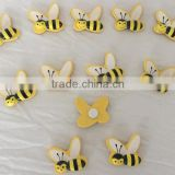 Many colors Customized fridge magnet bees sticker for promotion handmade bees DIY decorate home