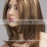 Hand tied streak hair color wig , lace front wig, synthtic front lace wigs