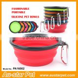 Eco Friendly Soft Wholesale Dog Supplies Cat Dog Collapsible Feeders Pet Silicone Outdoor Bowls