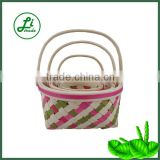 new design wooden basket set of 3