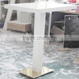 food counter design solid surface restaurant dining table,acrylic dining table and chairs