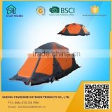 portable 4 season camping tent, aluminum pole camping tent for 2 persons, high mountain camping tent