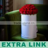 Custom Made Logo Foil Packaging Flower Bouquet Round Cardboard Boxes