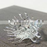 Tiny Crystal Hedgehogs/Porcupine Hand Blown Clear Glass Art Figurine Animal Collection Home Decor