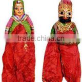 Attractive Handmade Cloth Made Home Decor Rajasthani Couple Indian Puppet