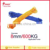 Factory 600kg 8mm Safety Rock Outdoor Climbing Rope rescue rope Parachute rope Fire Rescue