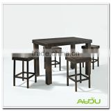 Audu Four Seater Table/Outdoor Four Stools Seaters Table