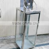 stainless steel outdoor large clear glass hurricane lantern / Steel Candle lanterns Manufacturer from India