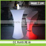 glitter LED rechargebale bar table for bar pub party club