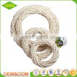 Customized artificial willow wicker flower wreath supplies wholesale for Christmas decoration