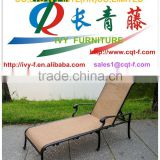 outdoor chaise lounge hotel beach aluminum frame with sling fabric leisure chaise lounger/garden /pool leisure chaise lounge