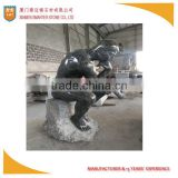 Butterfly Green Granite Human Sculpture