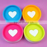 hot sale round plastic soap dish /plastic soap tray /plastic soap case can be printed logo